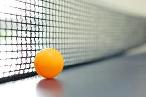 Orange table tennis ball